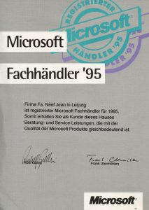 Microsoft Fachhändler 1995
