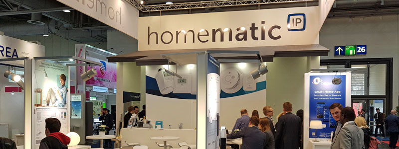 homematic Cebit-Stand: aktuelle SmartHome Technik