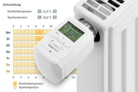 Steuerung der Thermostate per Zeitsteuerung oder App = Kostenersparnis