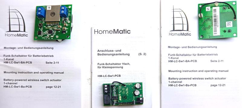 HomeMatic (ELV) Aktoren für Battariebetrieb