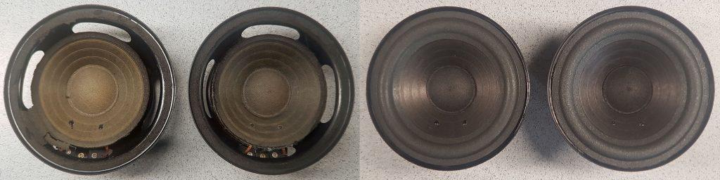 RFT L 7102 aus RFT BR25 BR25e BR26 mit aufgelösten Sicken und nach der Reparatur
