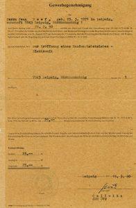 NEEF Elektronik - erste Gewerbegenehmigung von 1990