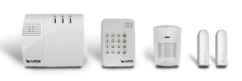 Funk-Alarmanlage: Lupus XT1 mit Keypad, Bewegungsmelder und Tür/Fensterkontakten