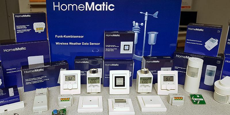 aktuelle HomeMatic Produkte in unserem Verkaufsbüro