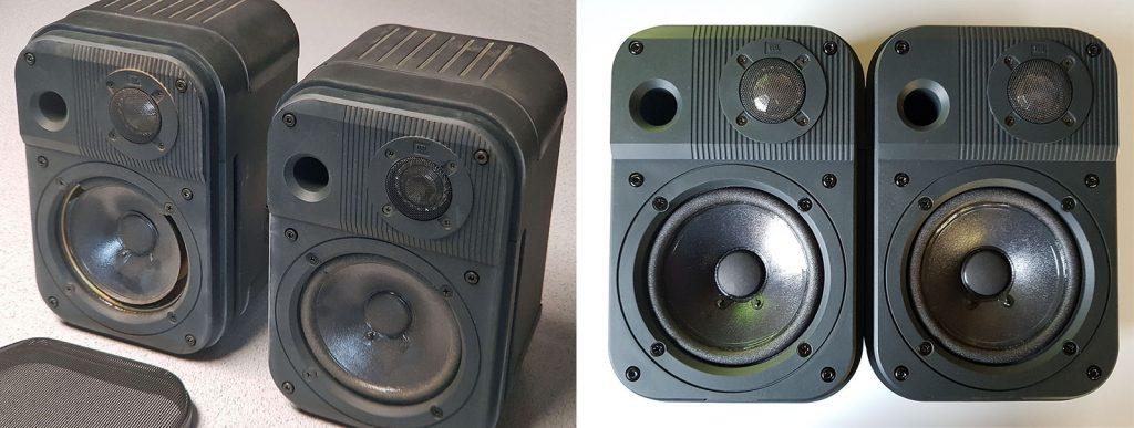 JBL Pro III vor und nach der Reparatur