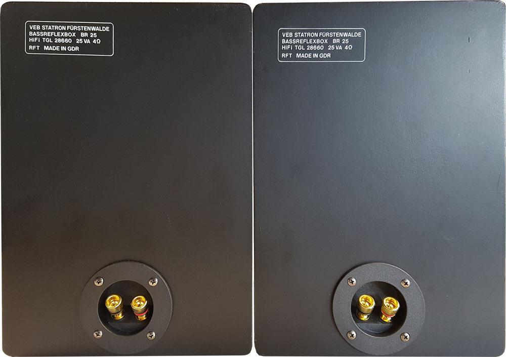 RFT BR25 mit neuen Lautsprecherterminals