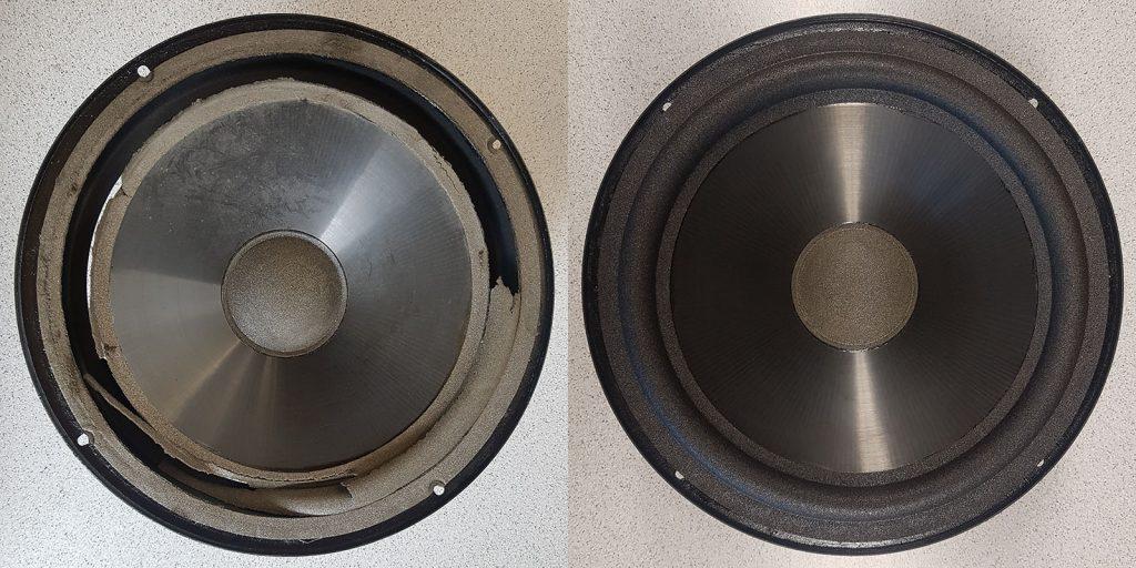 Infinity Kappa 6 mit Carbon-Membran und Schaumstoff-Dustcap vorher-nachher