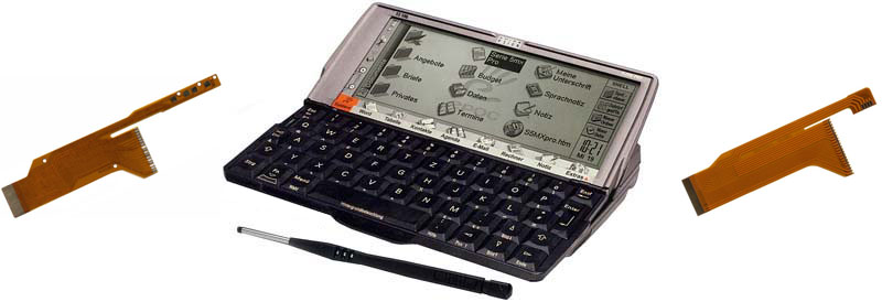 PSION Organizer mit Displaykabel