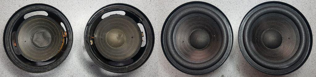 RFT L7102 mit eingedrückten Staubschutzkappen, vor und nach der Instandsetzung mit neuen Original-Staubschutzkappen