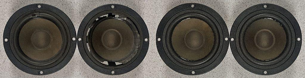 Audax AP100M0 vor und nach dem Sickentausch