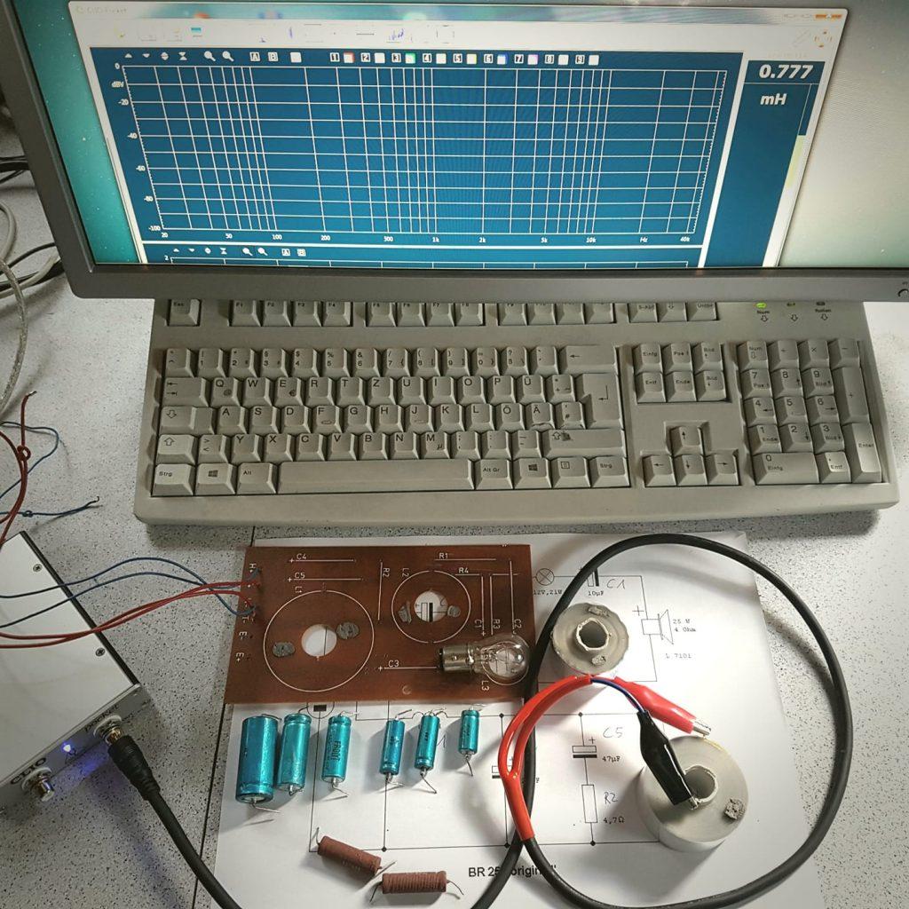 Frequenzweichentest - Bauteiltest