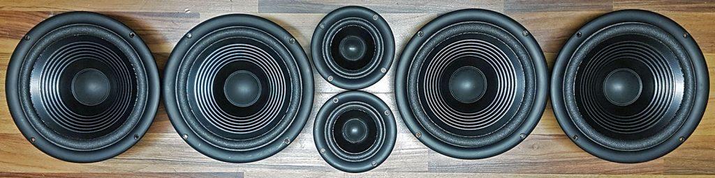 Infinity Reference 61 MKII, alle 6 Lautsprecher wurden per Sickentausch überholt