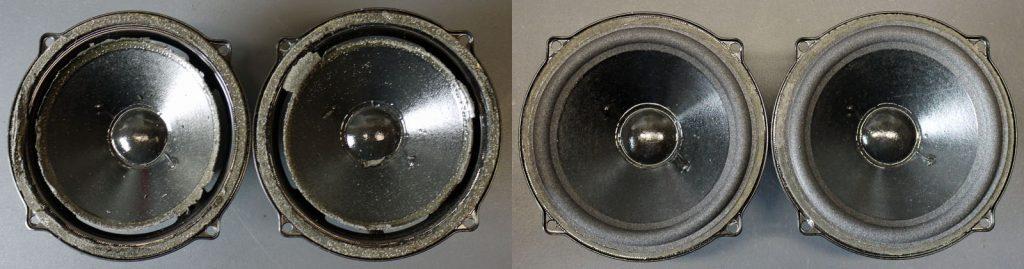 Arcus TM1000 - Visonik MT130.25.01 Mitteltöner vor und nach dem Sickentausch