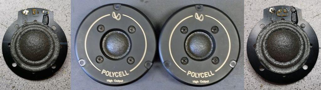 Infinity Polycell Hochtöner 902-6688 mit defekten Zuleitungen