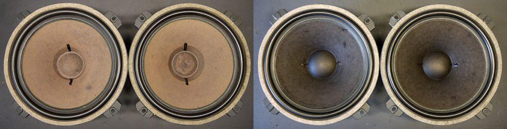 Isophon PSL 300/70 Membranen aufgefrischt, Staubkappen neu, Litze neu verlötet
