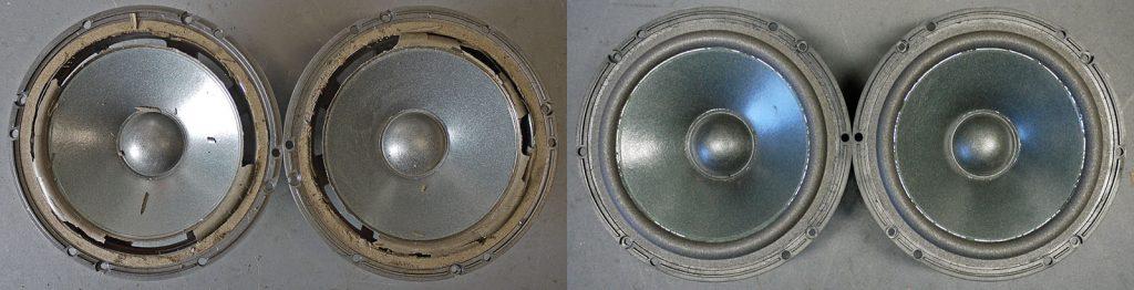 JBL A0406A aus JBL Ti600 vor und nach dem Sickentausch
