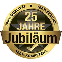 Seit 1995: 25 Jahre für Sie da, 100% Qualität - 100% Service - 100% Kompetenz