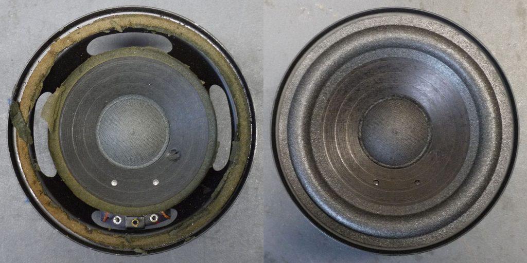 sehr rarer RFT L7114 (Tieftöner aus BR50) mit defekter Sicke und Loch in der Membrane