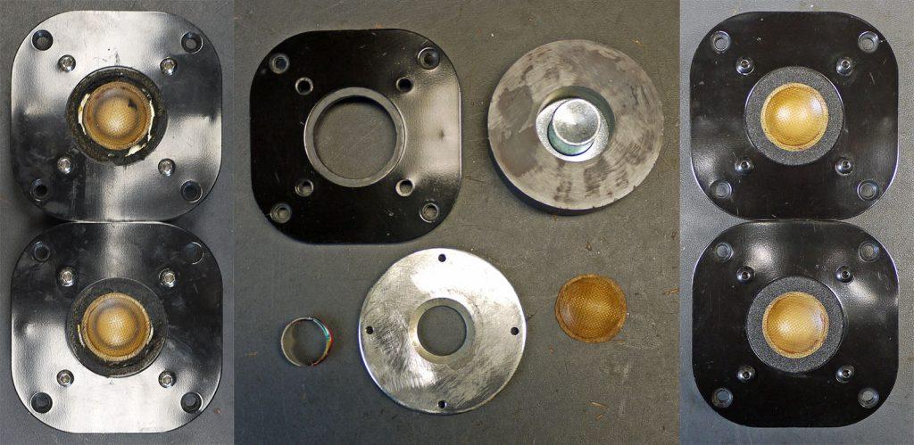 Focal T92K mit defekten Schwingspulen und Sicken