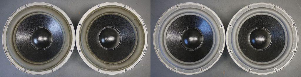 extrem weiche Schamstoffsicken für Quadral W250/50/09/PF aus Quadral Vulkan Boxen