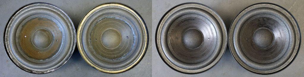 RFT L7114 aus BR3750 Härtefall 03-2020, Sicken verhärtet, Schmutz im Luftspalt, extreme Mengen an CYANACRYLAT auf Membranen und Körben
