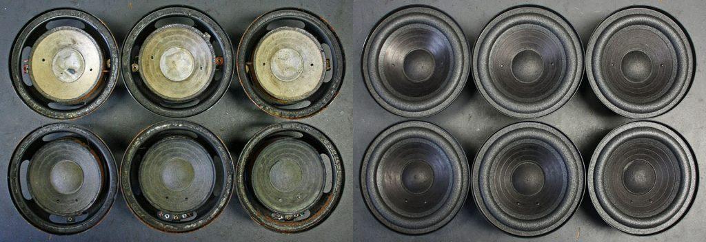 RFT BR50 L7113 und L7114, Sicken defekt, Staubkappen stark deformiert und Körbe verrostet