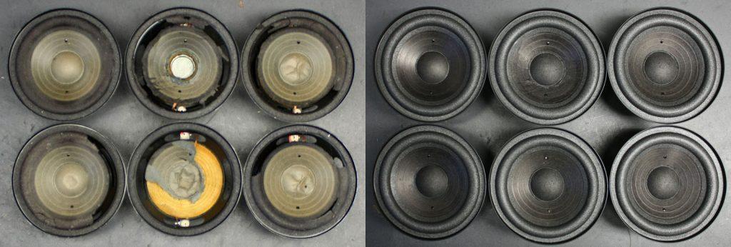 RFT BR50 2x L7113 und 4x L7114, teilweise stark beschädigte Membranen - Chassis konnten alle gerettet werden