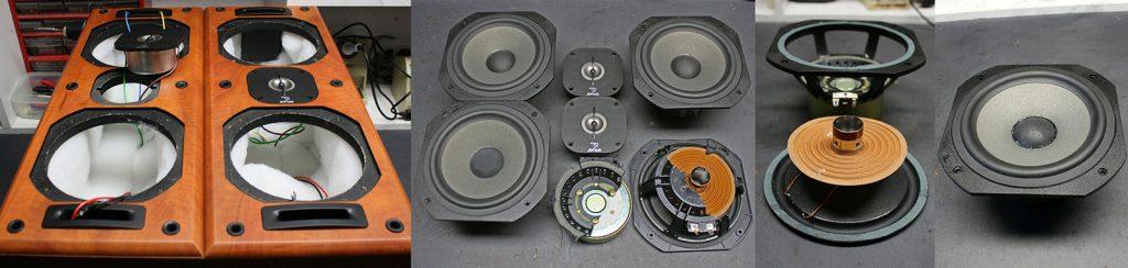 Focal JM-Lab Chorus LCR 700 mit zerbrochenem Kunststoffkorb