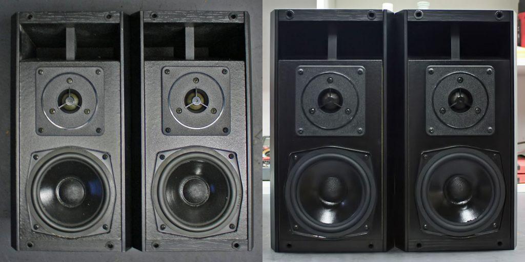 Hans Deutsch HD304, Variante mit Vifa Tief/Mitteltöner und Gummisicke