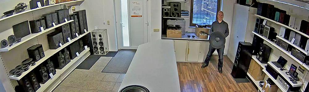 unser Verkaufsraum im November 2019 Lautsprecherreparatur